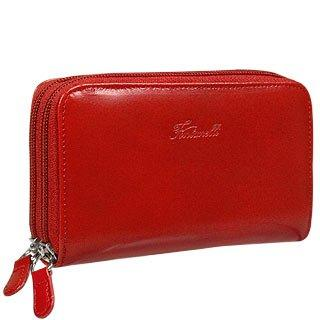 Calf Leather Wallet with double zip