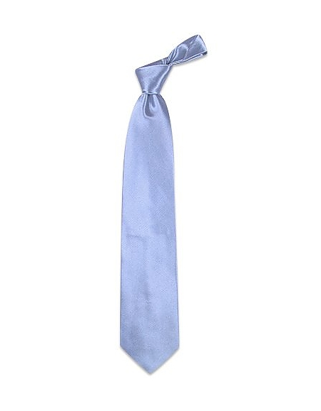 Foto Forzieri Cravata in seta textured tinta unita blu cielo brillante Cravatte