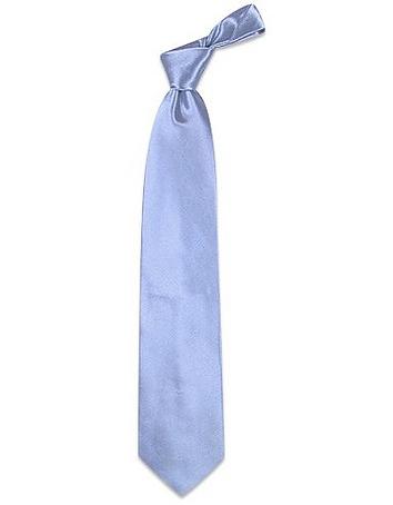 Forzieri - Shimmering Solid Sky Blue Textured Silk Tie