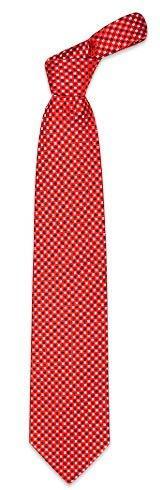 Forzieri Red Mini Squares Woven Silk Tie