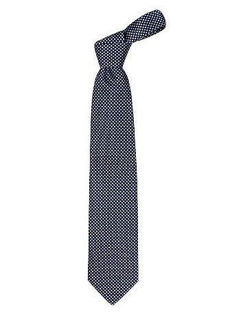 Forzieri - Blue Checks Basketweave Woven Silk Tie