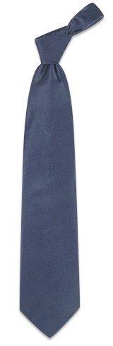 Forzieri Cravate unie bleu foncé soie douce - Forzieri Cravate unie bleu foncé soie douce