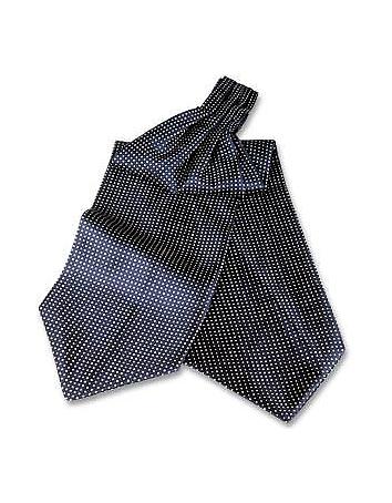 Edwardian Men's Neckties Polkdot Silk Ascot $80.00 AT vintagedancer.com