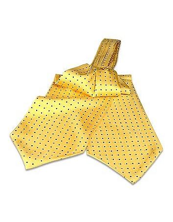 Edwardian Men's Neckties Polkadots Silk Ascot $80.00 AT vintagedancer.com