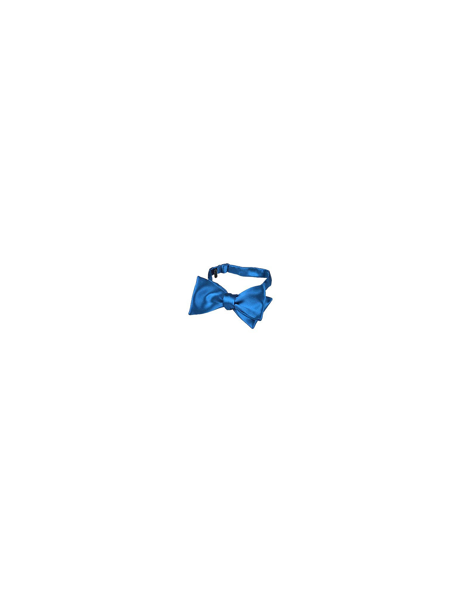 Forzieri Bowties and Cummerbunds, Sky Blue Solid Silk Self-tie Bowtie
