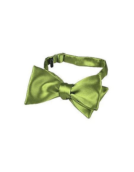 Foto Forzieri Papillon in seta verde chiaro tinta unita Papillon e Plastron