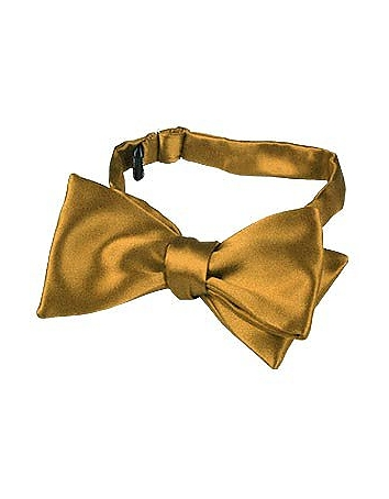 Forzieri - Ocher Yellow Solid Silk Self-tie Bowtie