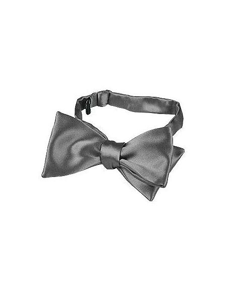 Foto Forzieri Papillon in seta grigio scuro tinta unita Papillon e Plastron