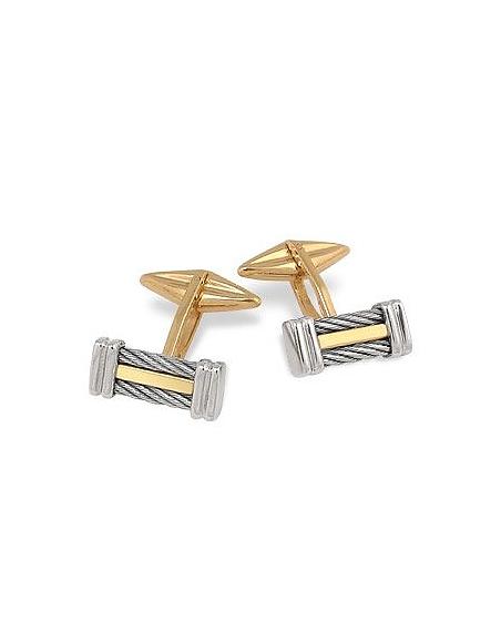 Foto Forzieri Linea di Fulco- gemelli in oro e acciaio inossidabile