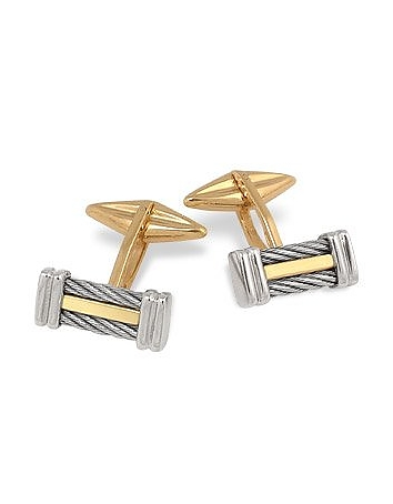Forzieri - Di Fulco Line Gold and Stainless Steel Cufflinks