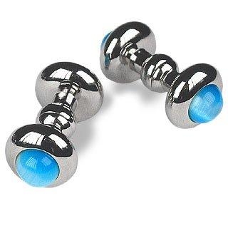 Forzieri Doble - Elegant Silver Plated Cuff Links