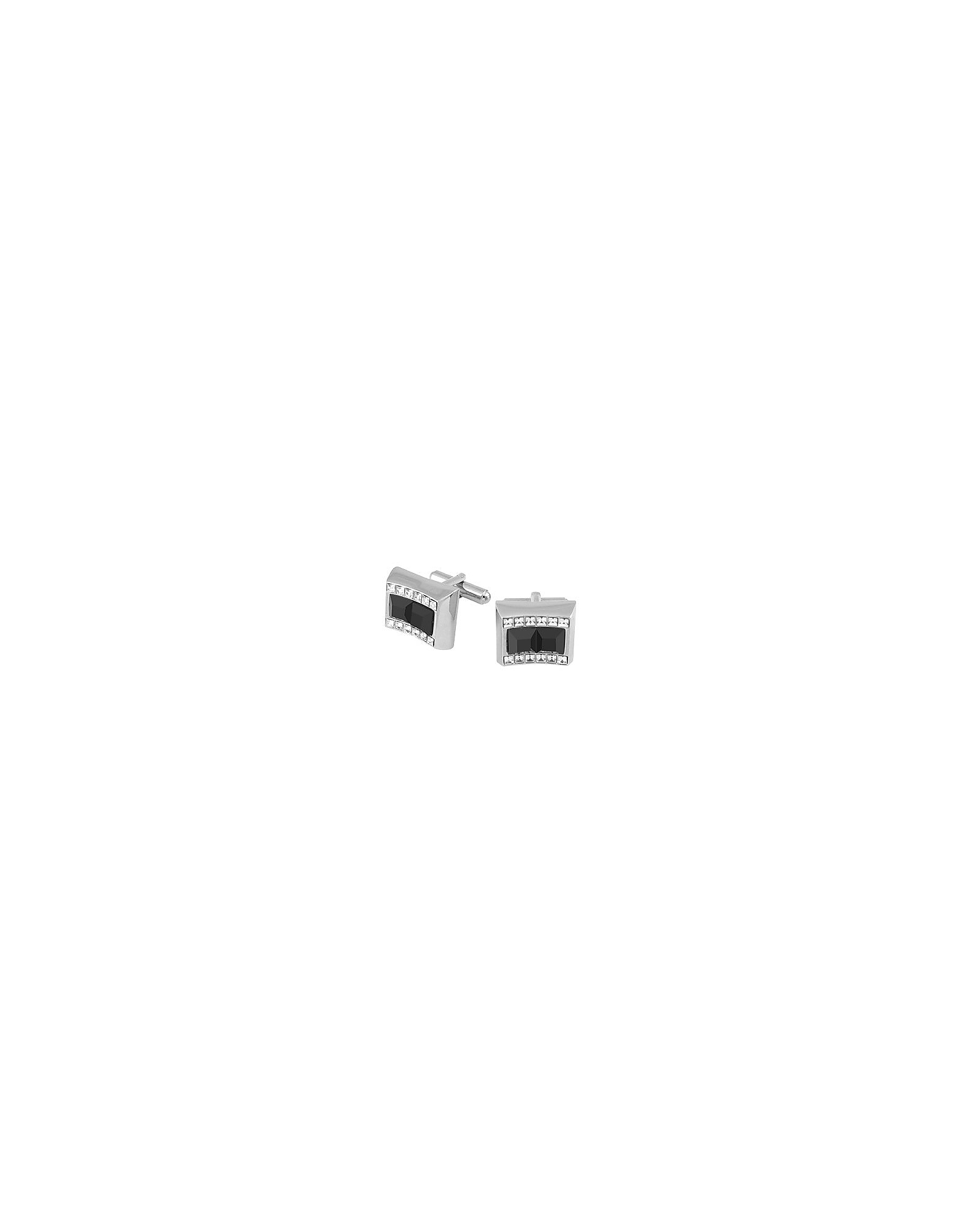 Forzieri Cufflinks, Black Square Stones Cufflinks