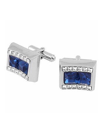 Forzieri - Blue Square Stone Cufflinks