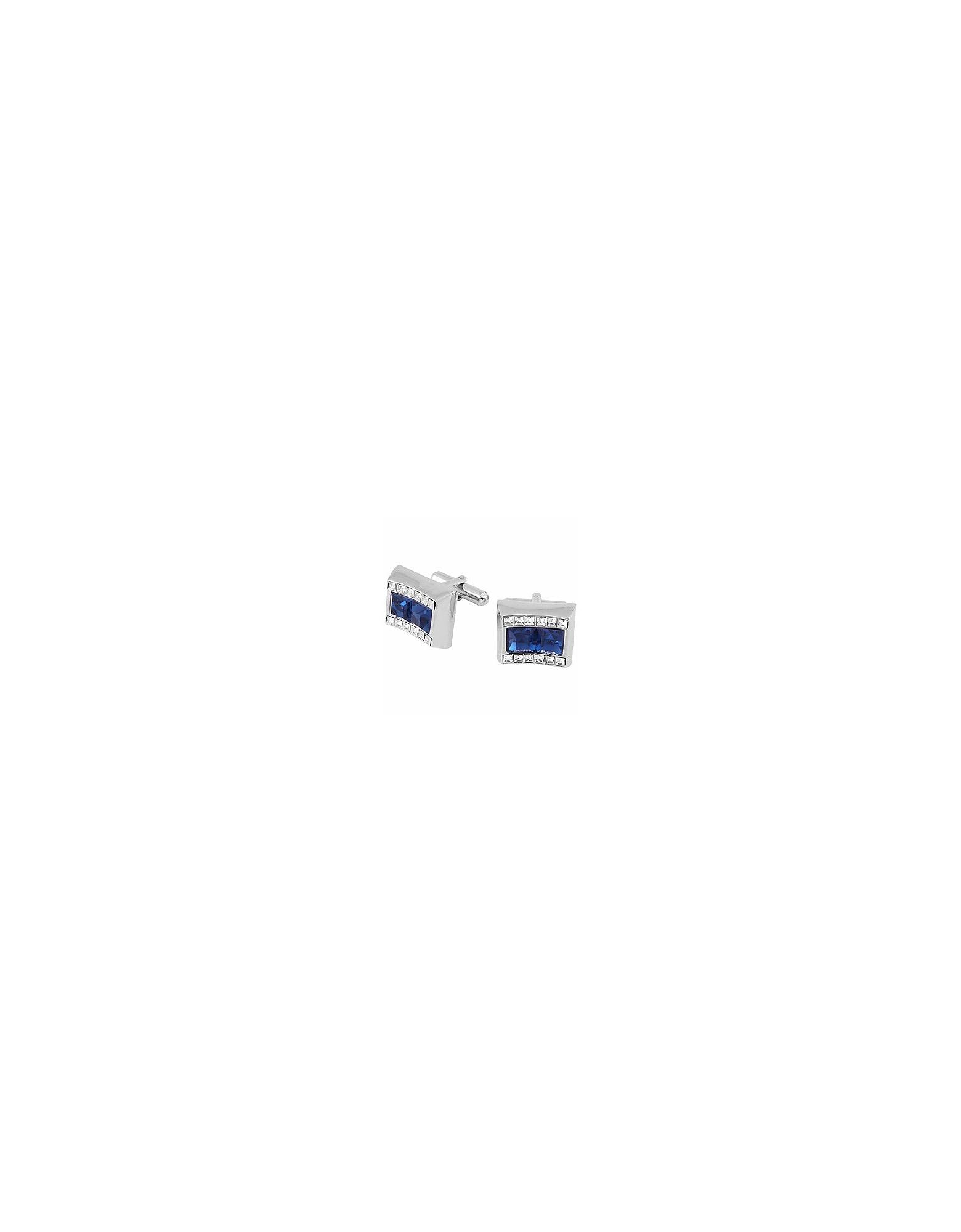 Forzieri Cufflinks, Blue Square Stone Cufflinks