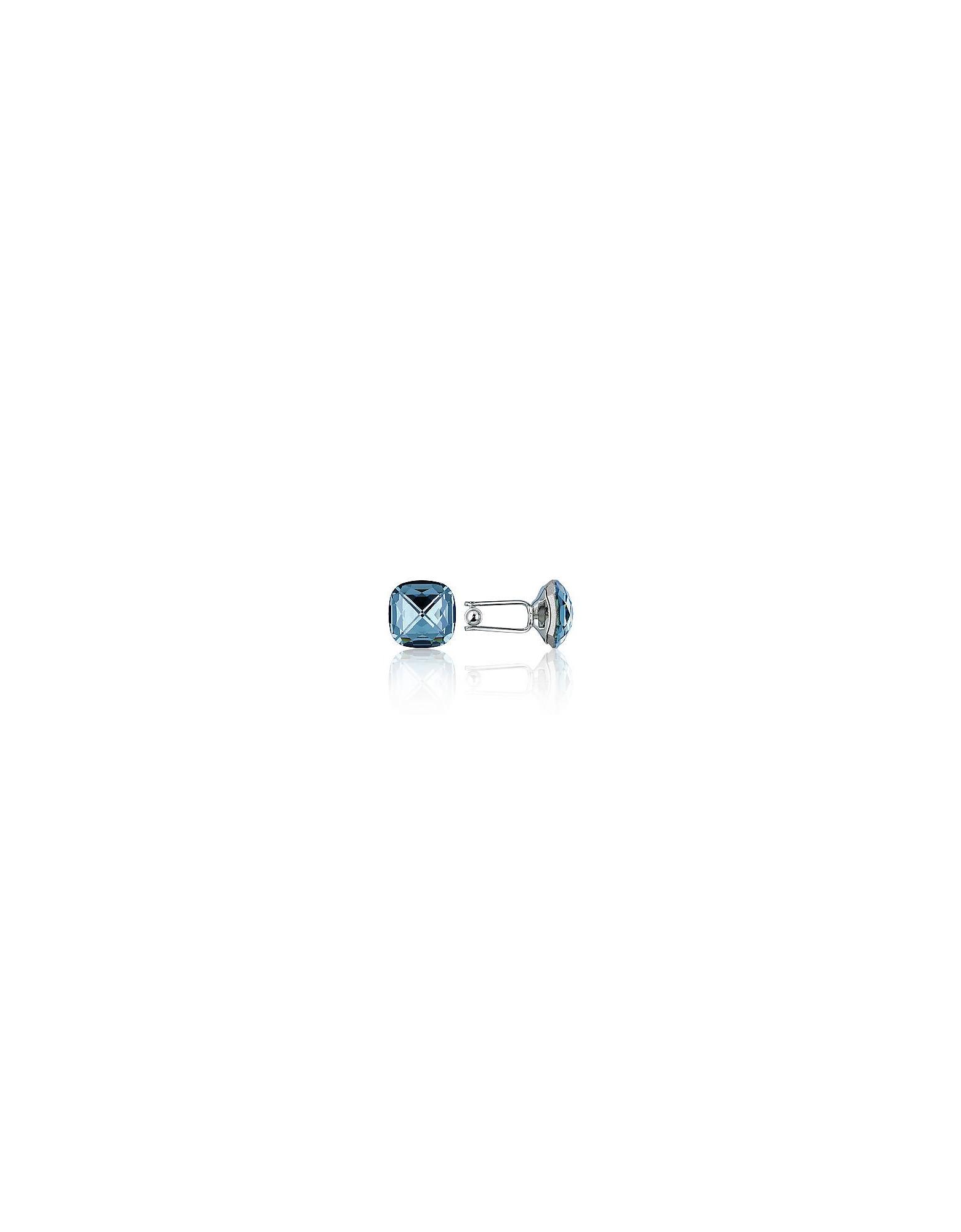 Forzieri Cufflinks, Crystal Silver-plated Cufflinks