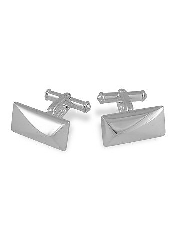 Forzieri - Sterling Silver Rectangular Cuff Links