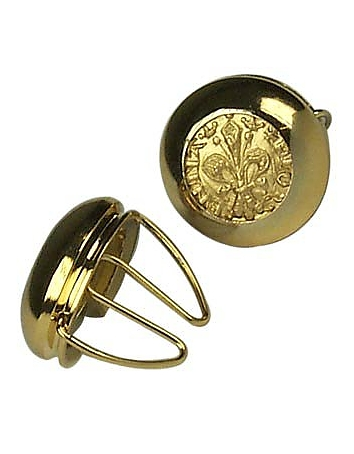 Forzieri - Gold Plated Giglio Button Covers