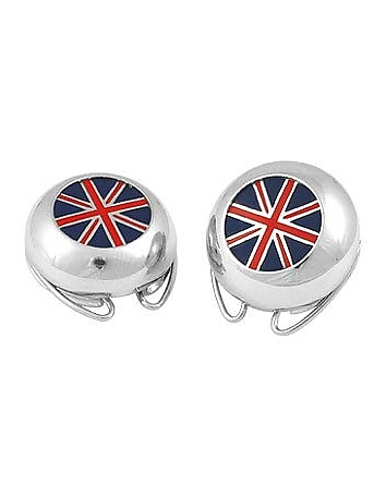 Forzieri - Union Jack Flag Silver Plated Button Covers