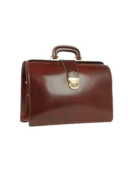 Foto Forzieri Doctor bag  media in pelle marrone scuro con fibbia Borse Professionali