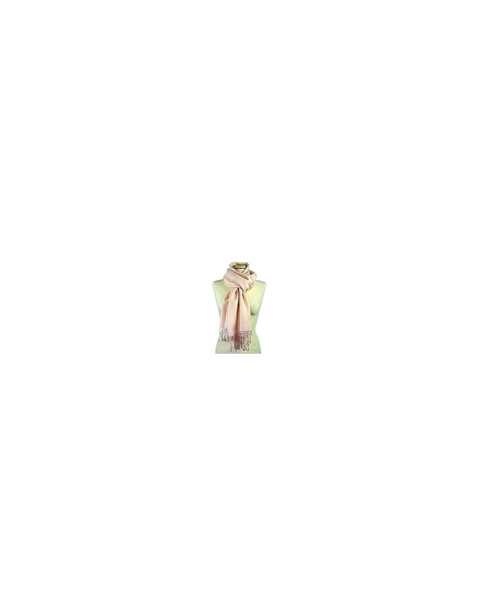 Forzieri Scarves, Pale Pink Pashmina and Silk Scarf