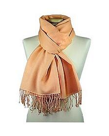 Pfirsichfarbener Schal aus Pashmina & Seide - Forzieri