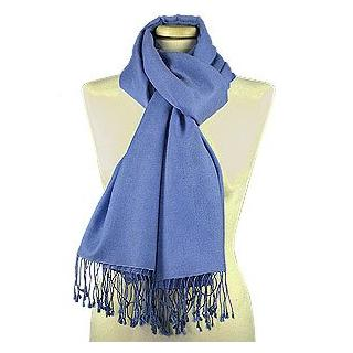 Lux-ID 210016 Ocean Blue Pashmina & Silk Shawl
