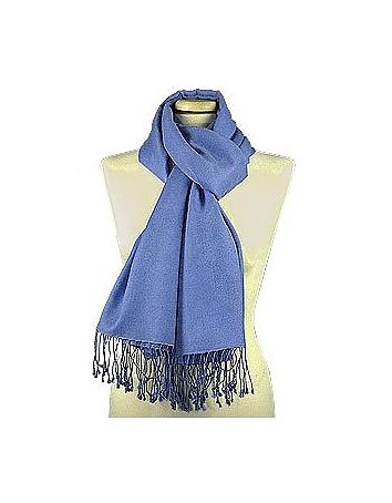 Forzieri Designer Long Scarves, Ocean Blue Pashmina & Silk Shawl fz20180-009-00