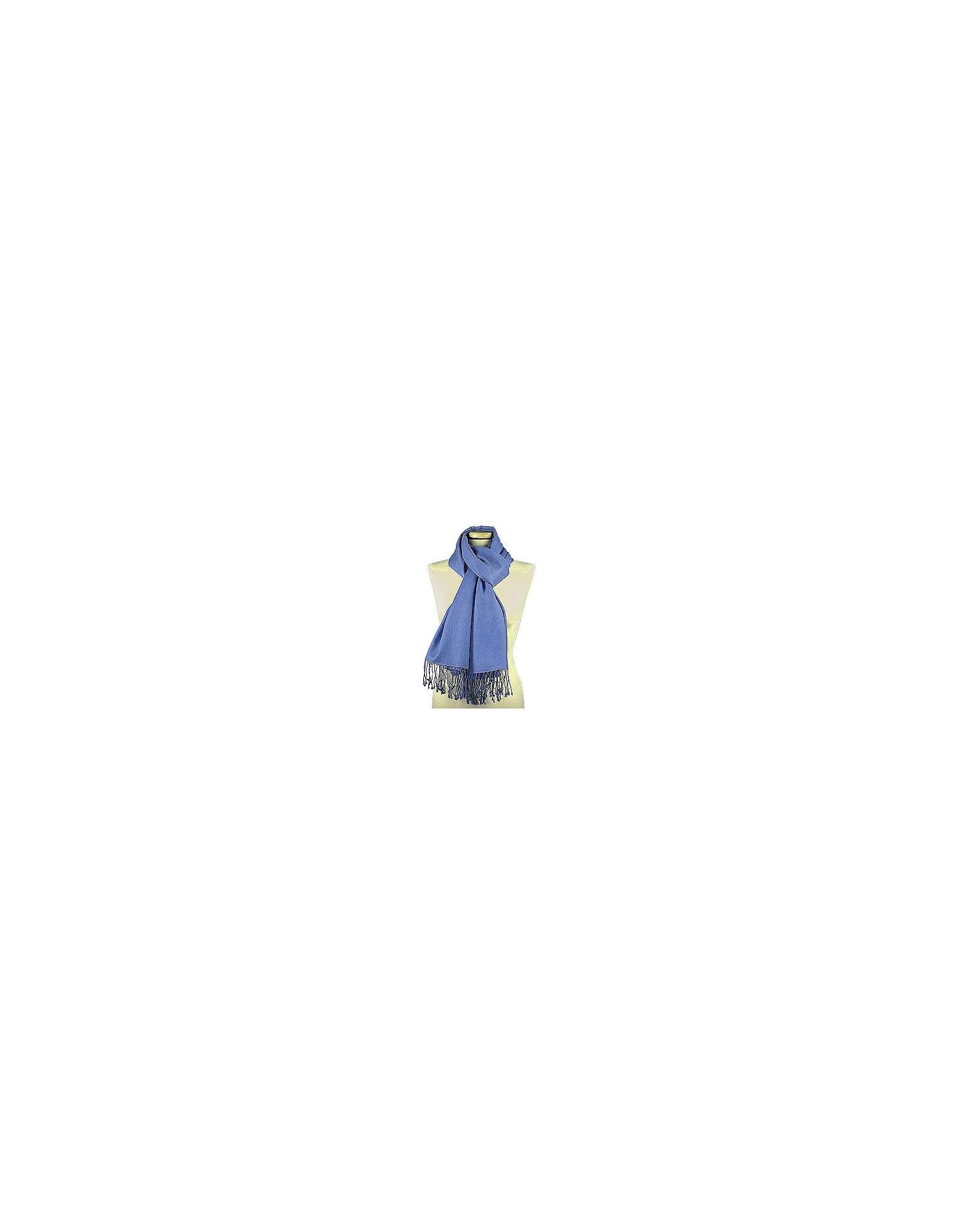 Forzieri Scarves, Ocean Blue Pashmina & Silk Shawl