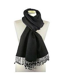 Schwarzer Schal aus Pashmina & Seide - Forzieri