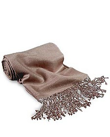 Camelfarbener Schal aus Pashmina & Seide - Forzieri