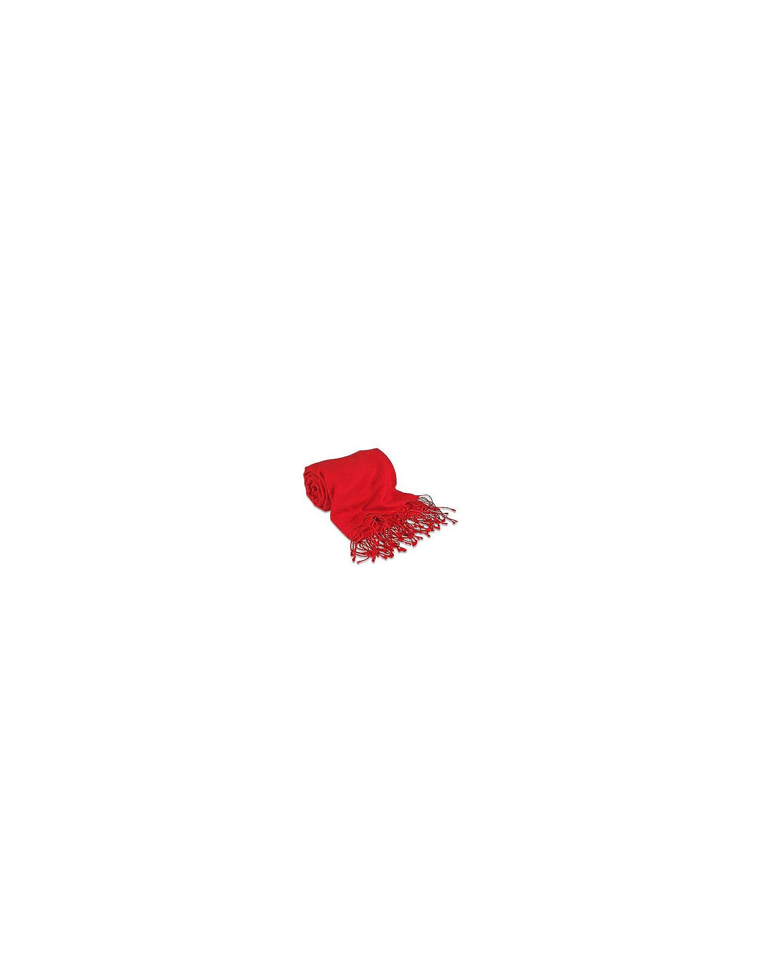 Forzieri Scarves, Red Pashmina & Silk Shawl