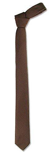Forzieri 棕色斜纹细领带