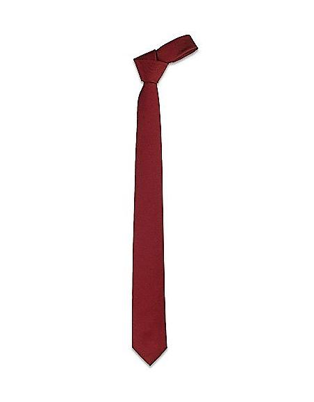 Foto Forzieri Cravatta slim bordeaux in Twill di seta Cravatte