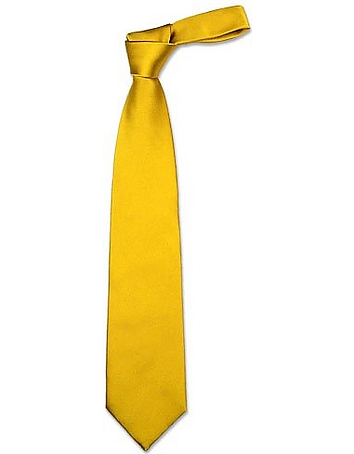 Forzieri - Solid Golden Yellow Extra-Long Tie