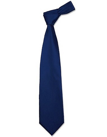 Forzieri - Solid Navy Blue Extra-Long Tie