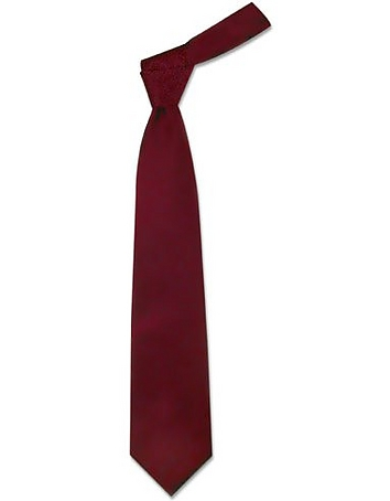 Forzieri - Solid Bordeaux Extra-Long Tie