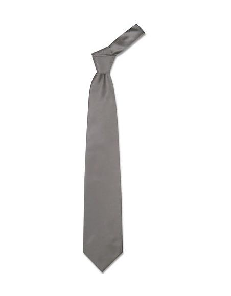 Foto Forzieri Cravatta extra-long grigio scuro tinta unita Cravatte