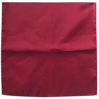 Cranberry Silk Pocket Square