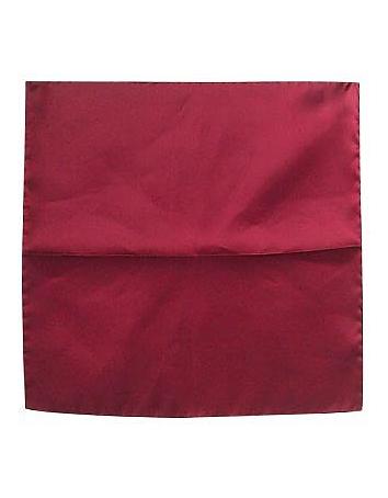 Forzieri - Cranberry Silk Pocket Square