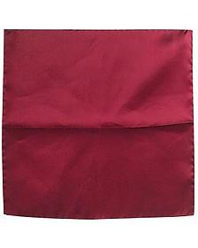 Cranberry Silk Pocket Square - Forzieri