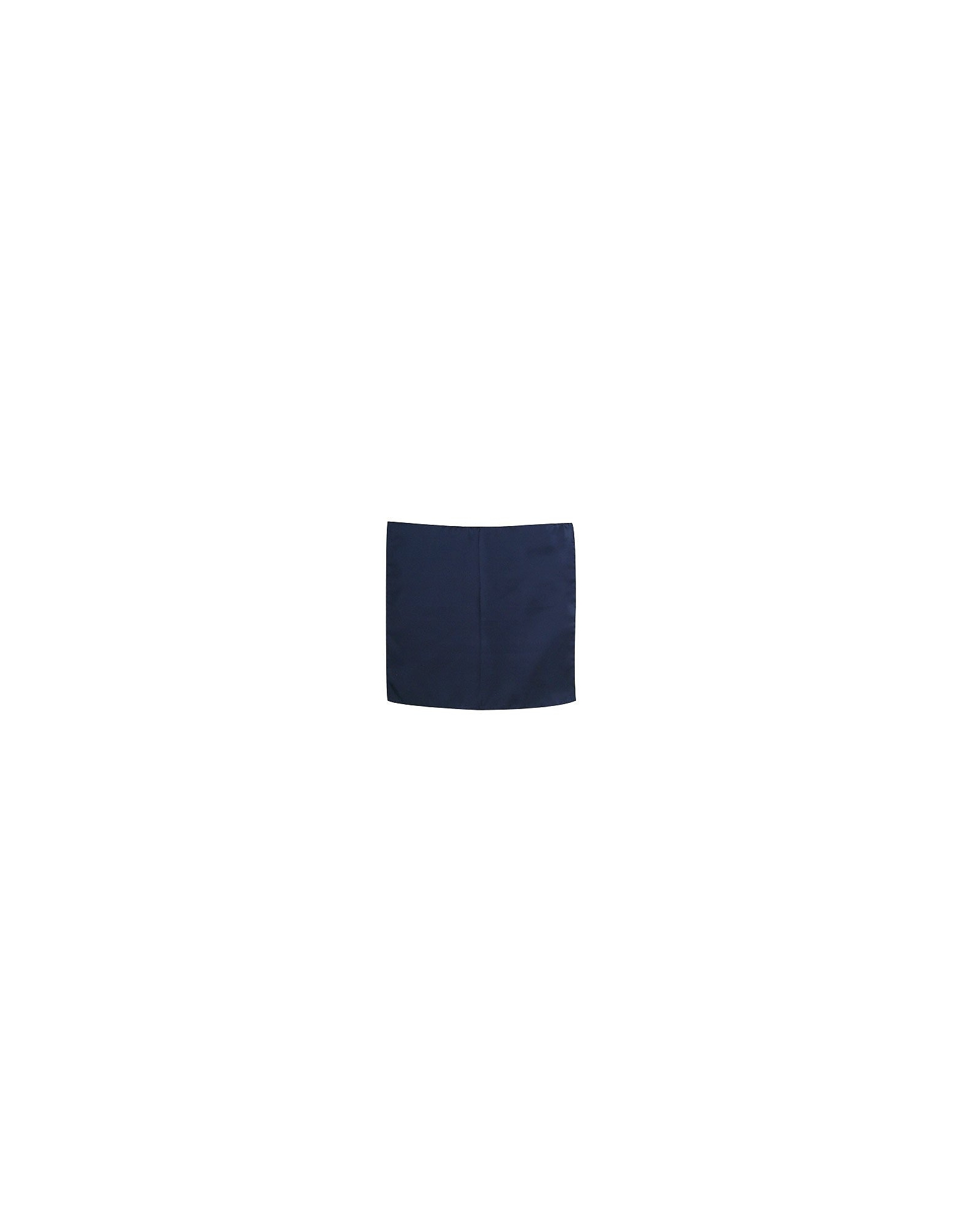 Image of Forzieri Designer Pocket Squares, Navy Blue Silk Pocket Square