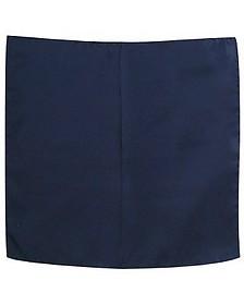 Navy Blue Silk Pocket Square - Forzieri