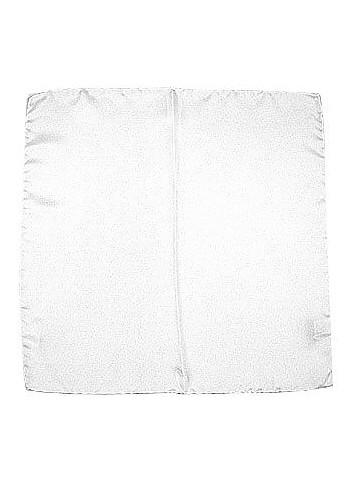 White Silk Pocket Square - Forzieri