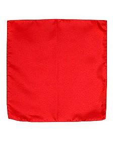 Red Silk Pocket Square - Forzieri
