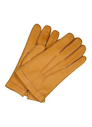 Forzieri Men's Cashmere Lined Deer Italian Leather Gloves