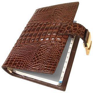 Forzieri Stamped Alligator Leather Planner