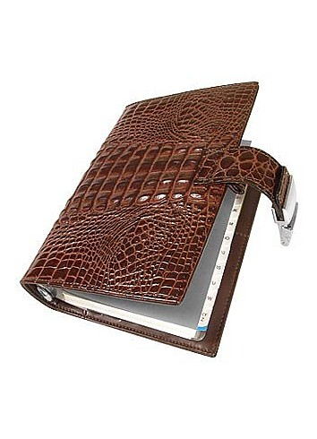 Stamped Alligator Leather Planner - Forzieri