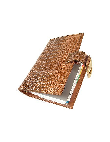 Forzieri Agenda en cuir imprimé alligator -