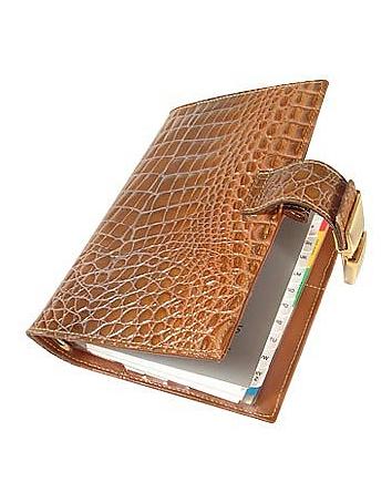 Stamped Alligator Leather Planner
