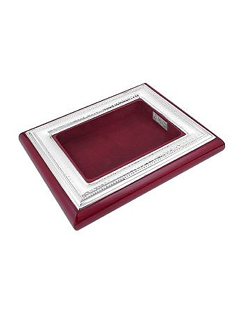 Forzieri - Chiselled Sterling Silver & Mahogany Wood Jewelry Tray